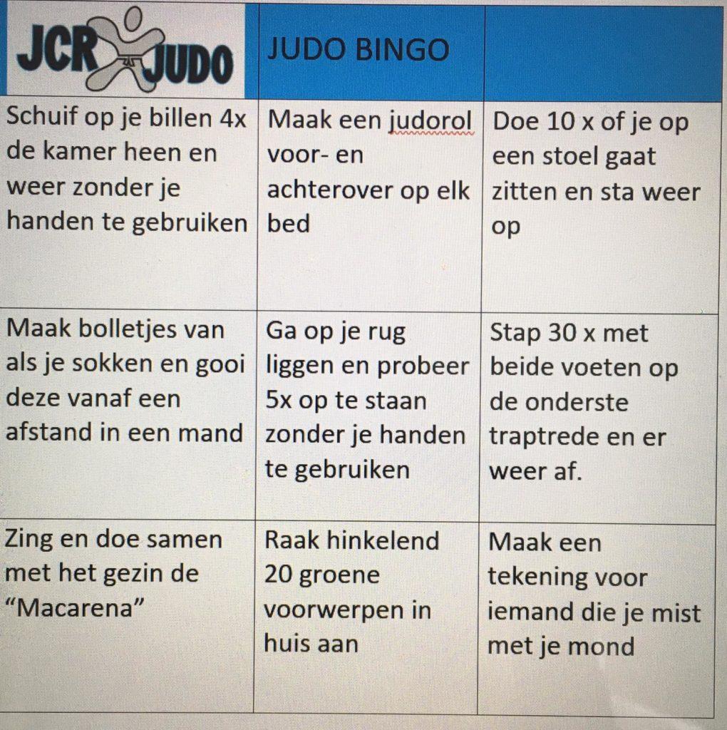 jcr judo bingo